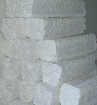 EPS styrofoam compacted recyled foam logs