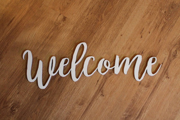 Laser Cutting Welcome sign