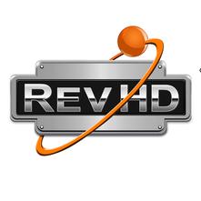 RevHD vinyl printed logo