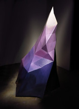 Crystal sculpture for Anime Expo