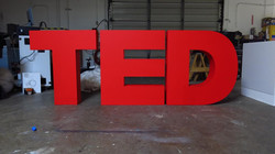 TED Stage Letters