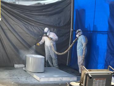 Spraying polyurea hard coat over prototy