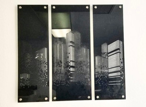 City Scape Laser Cut Display
