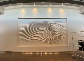 Epoxy coating over wall design