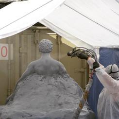 Polyurea Spraying over Prop