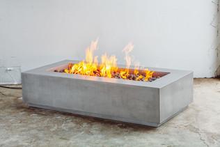 Rectangular Concrete Fire Pit