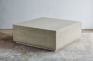 Custom Concrete Side Table