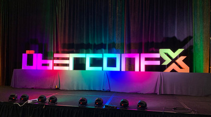 UBERCONF Stage Sign
