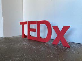 TEDx thin letters laser cut