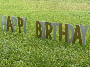 Corrugated plastic birthday sign