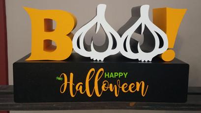 Boo Happy Halloween Sign