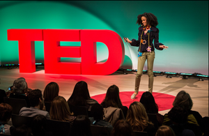 TED Conference Stage Letters