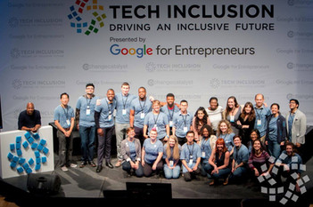 Tech Inclusion logo by WeCutFoam