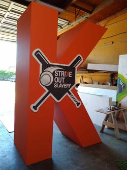 Oversize Letters - Strike Out Slavery