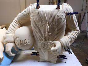 Evel Knievel sculpture - Torso