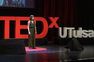 TEDx UTulsa Stage Letters