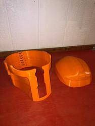 ABS 3D printed Helmet Parts