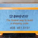 Speedy Crate Custom Painted Crate