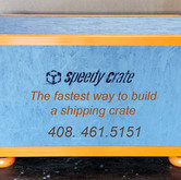 Speedy Crate Custom Painted Crate