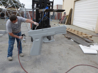 Applying Styrospray1000 over foam gun pr