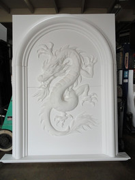 Architectural fire place