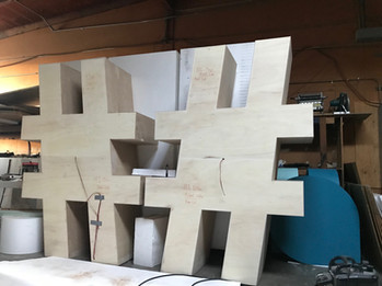 CNC plywood prop machining