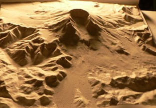 Foam topographical map by WeCutFoam