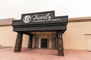 Family Community Church Sign