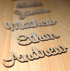 MDF laser cutting Name signs
