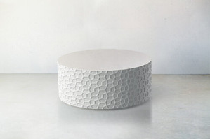 Concrete Textured Side Table