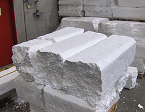 Compacted EPS foam