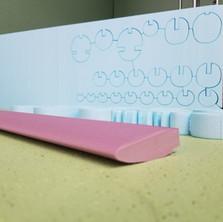 XPS foam cuts samples