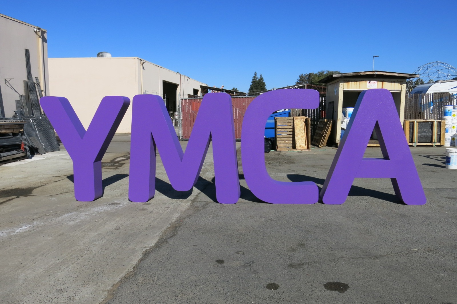 YMCA Letters Sign