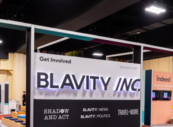 BLAVITY Illuminated Letters at AfroTech