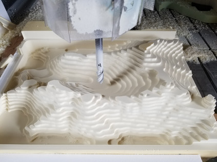 CNC machining HDU topo map
