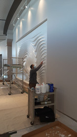 Epoxy coating for over wave wall design