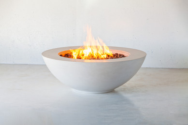 Concrete round fire pit