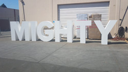 Large foam logo sign