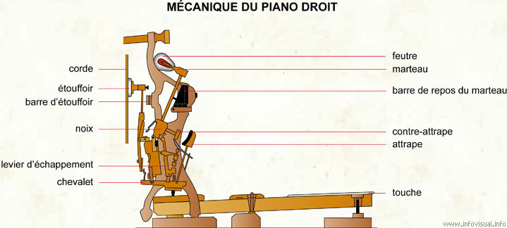 Mécanique et nomenclature piano
