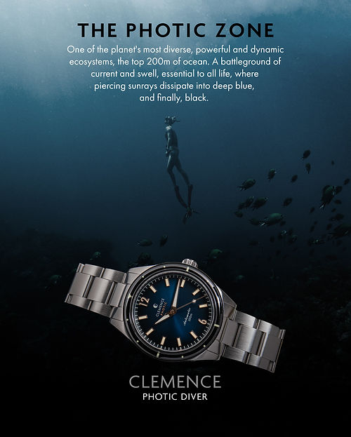 Clemence Watches, the Photic Zone, Photic Diver, Clemence Photic, Dive Watch