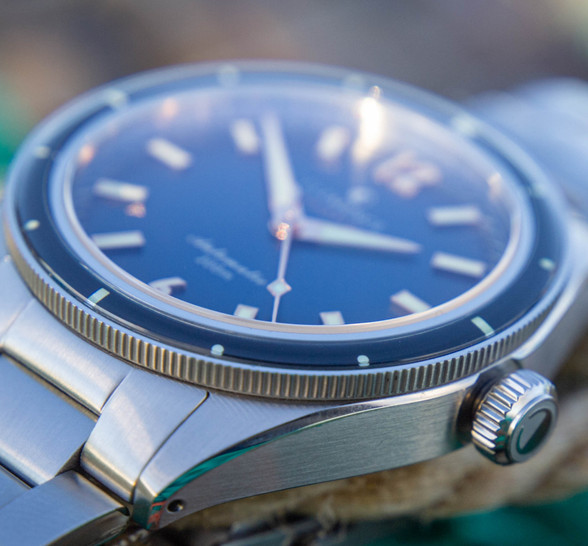 Photic Diver with gradient dial and bronze gilt hands