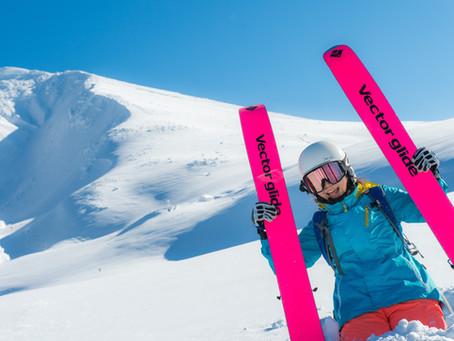 A beginner backcountry skier