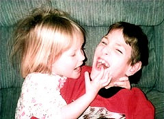 Michael with Sister