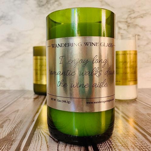 'Romantic Walks' Wine Bottle Candle
