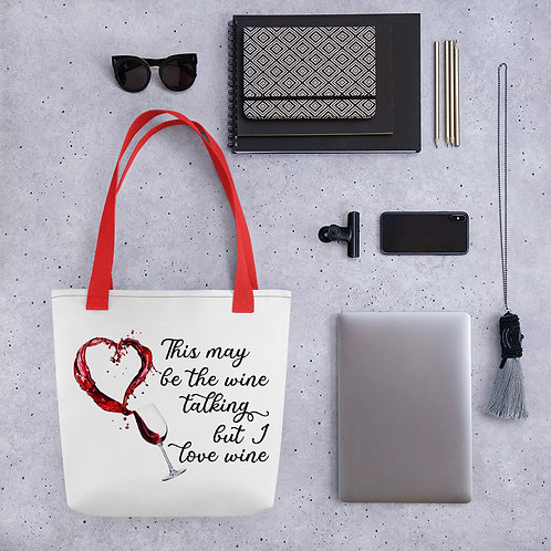 Love Wine Tote bag
