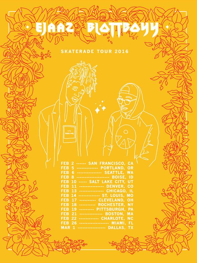 Ejaaz Blottboy Tour Poster