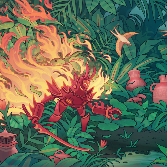Flaming Wetlands