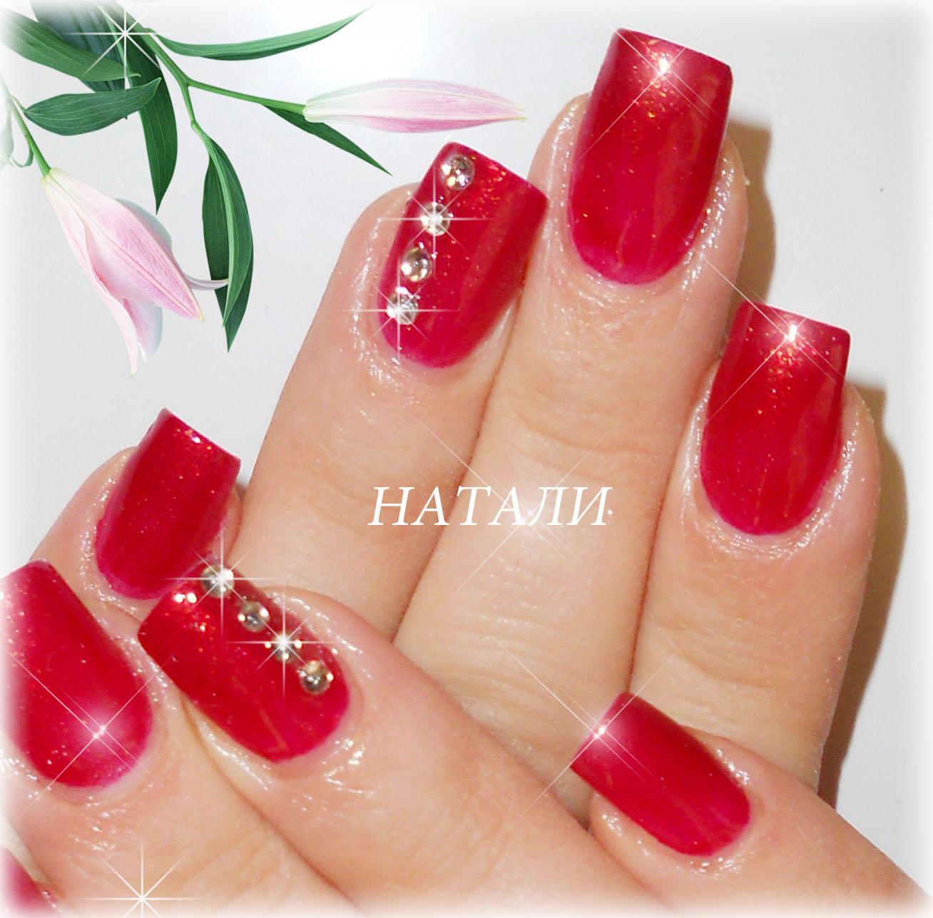 красный дизайн ногтей со стразами фото - Тюменский ...