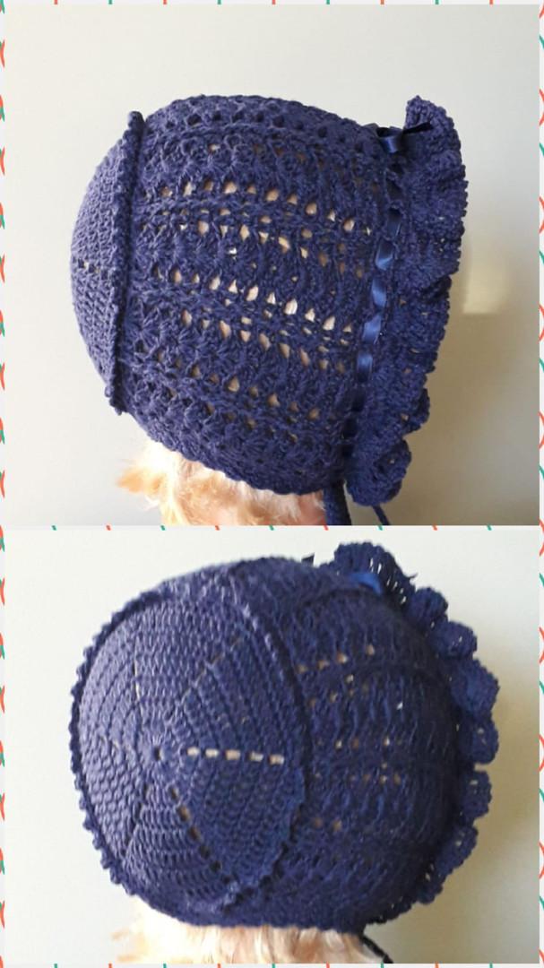 Navy crochet bonnet.jpeg