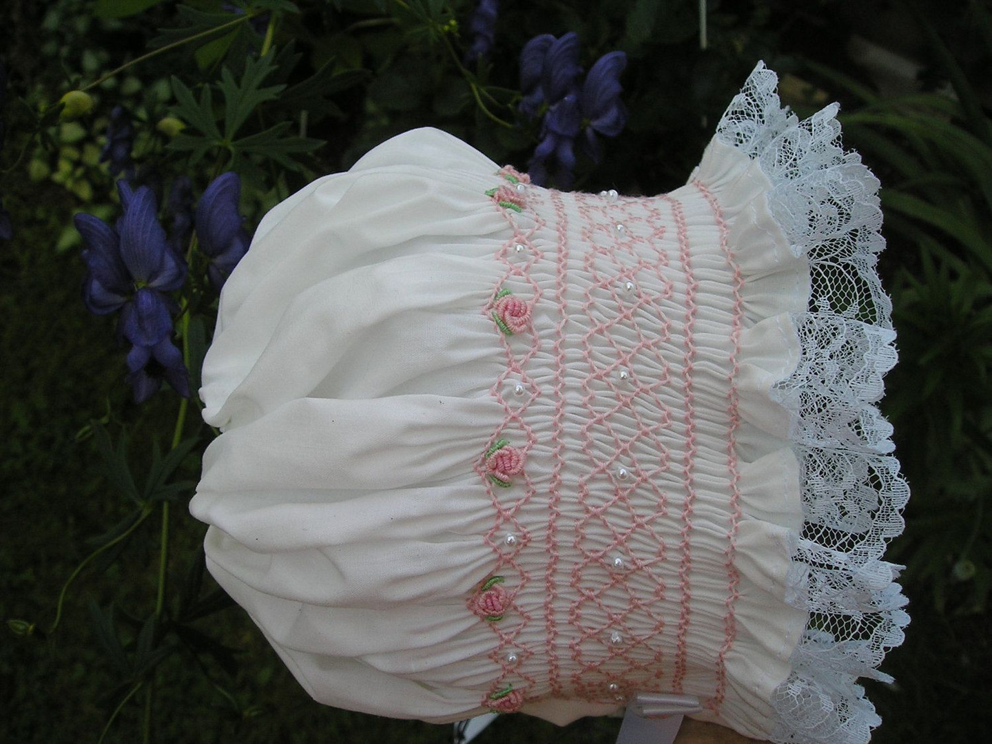 Classic old fashioned smocked bonnet.jpg
